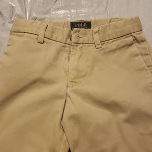 Polo by Ralph Lauren boys tan tailored shorts  4T